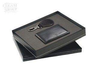 Set de llavero gota y billetera negra