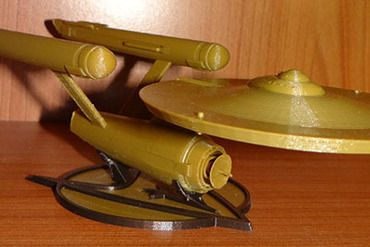 This is the original Enterprise. Well, one of the three used in production. Based off Alan Sinclair's Blueprints, which are regarded as the most accurate available. http://www.cygnus-x1.net/links/lcars/sinclair-enterprise.php  I am trying to upload the high-rez version as well, but you magine is sloooowwwww. I have a great fondness for this ship since as a child, it was the one that broke the mode of flying saucers and tube rockets. A truly revolutionary design th...
