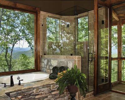 Love this bathroom!!!! (and the view)