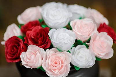 Catelier - amintiri pentru 9 vieti: Trandafiri Crepe