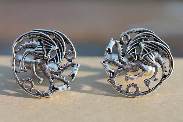 Game of Thrones Stark Sigil Direwolf Cufflinks GOT