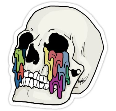 A skull, with the drips seen in the Self Titled album by Twenty One Pilots, falling from the empty eye sockets. • Also buy this artwork on stickers, apparel, phone cases, and more.