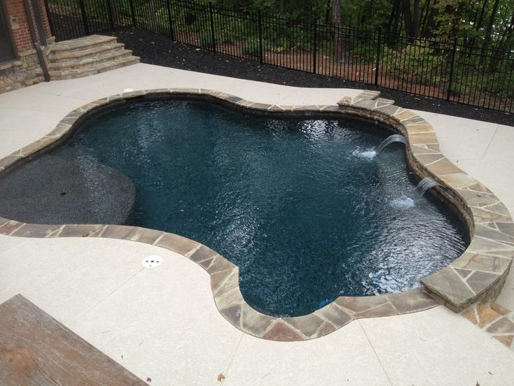 Black Marble Pebble Tec Rcs Pool And Spa Gunite Pools