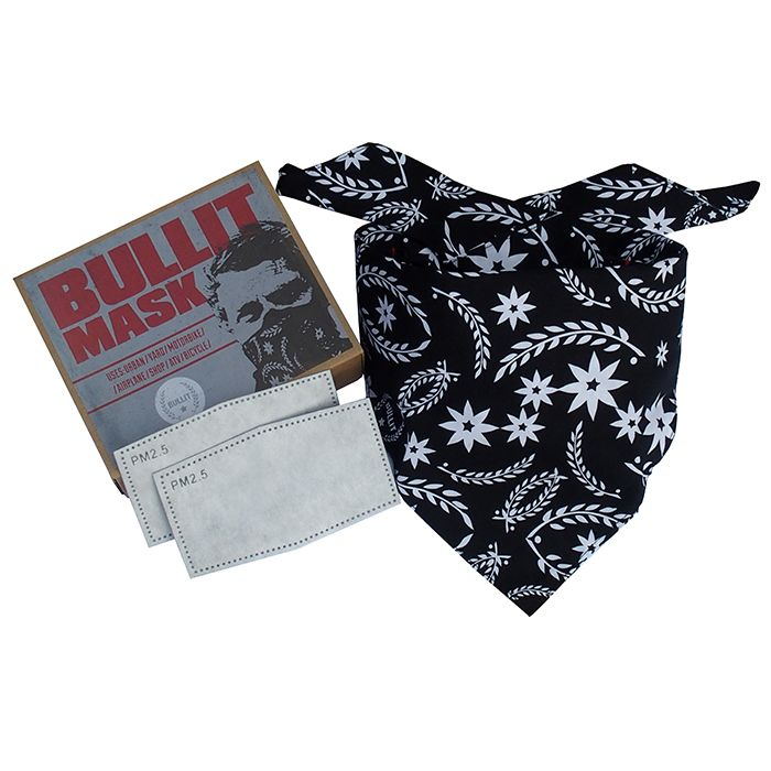 Stylish alternative to typical dust mask. Perfect for Scooter, Motorcycle, ATV, Lawn, Garden, Allergies, Shop Work. Comes with 2 filters. www.bullitspeedshop.com