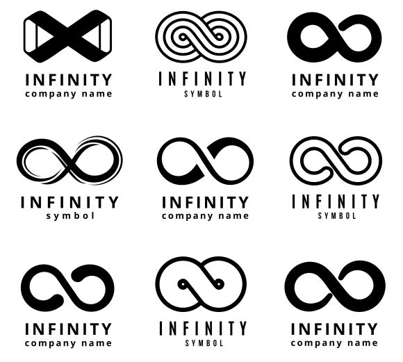 Vector different infinity logos set by MicroOne on @creativemarket