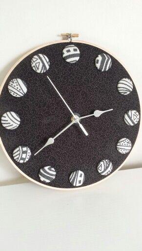 Clock by EmBee Designs (made from Ankalia Samba Midnight)