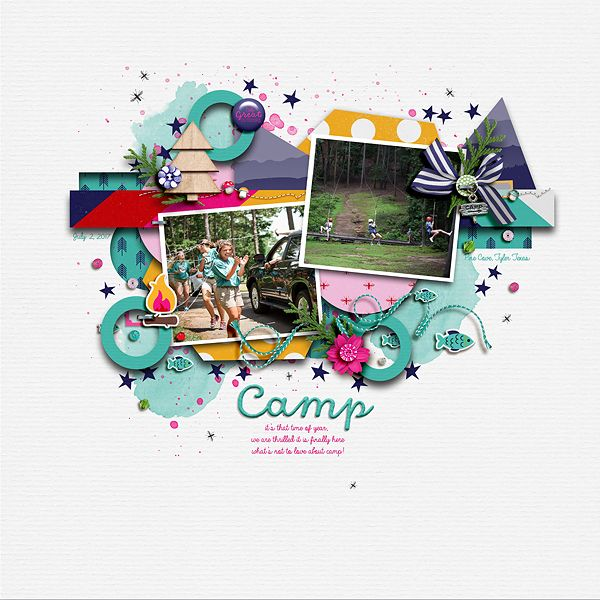 Halcyon Days Templates by Jimbo Jambo Designs. Camp Patterns and Backgrounds and Elements  by Allison Pennington.