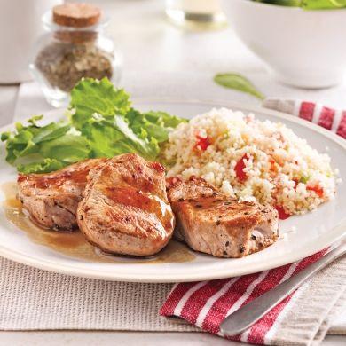 Médaillons de porc au cidre et sirop d'érable - Recettes - Cuisine et nutrition - Pratico Pratique