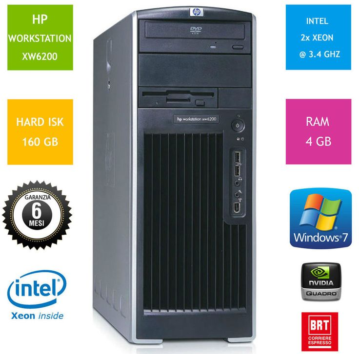 PC WORKSTATION COMPUTER PROFESSIONALE HPXW6200