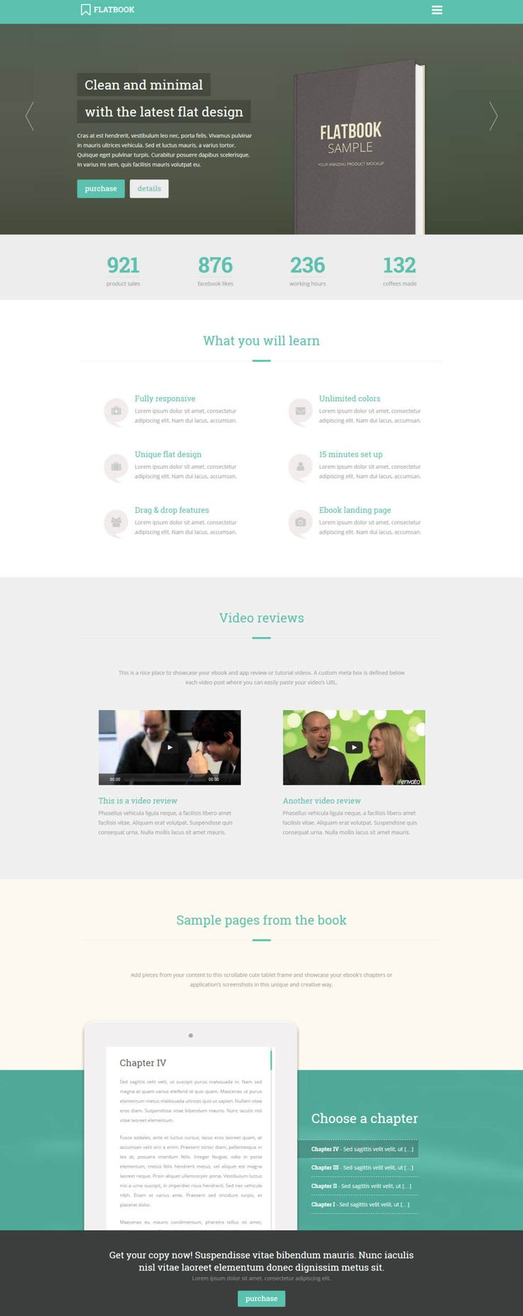 FlatBook - WordPress Theme for Authors, eBooks, Digital Downloads Click the link to DEMO | DOWNLOAD NOW