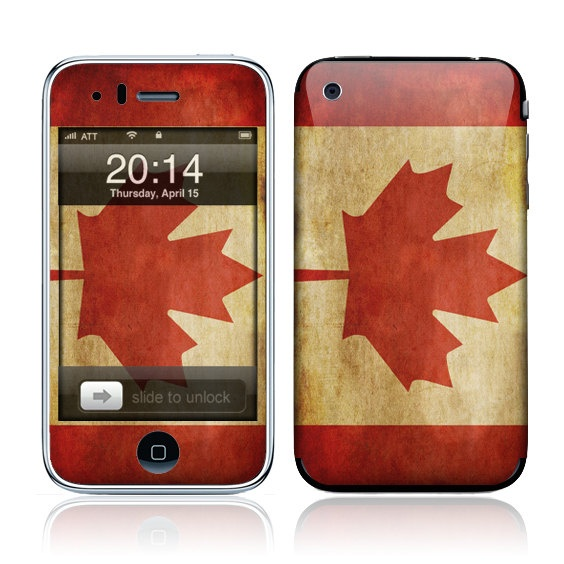 2014 Canadian flag on cell phone.                                                                                                                                                                                 More