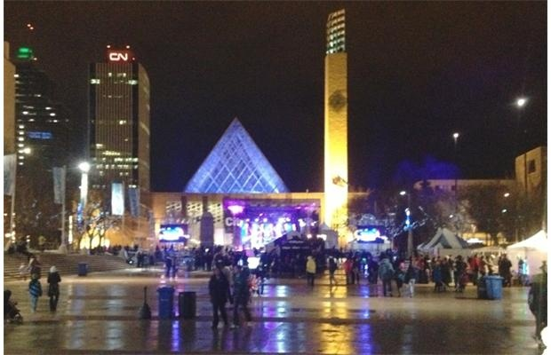 Revellers gather to ring in 2013 in Churchill Square