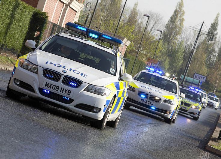 Part of Greater Manchester Police's fleet sets off to take part in Operation Galileo, the largest ANPR operation in the Force's history. Over 250 officers used ANPR (automatic number plate recognition) technology in more than 100 police cars to monitor traffic on main routes. They conducted 1810 vehicle checks in a 12-hour period.