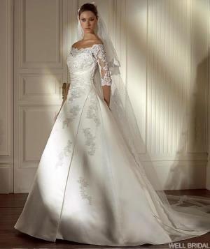 Продам свадебное платье с рукавами фото