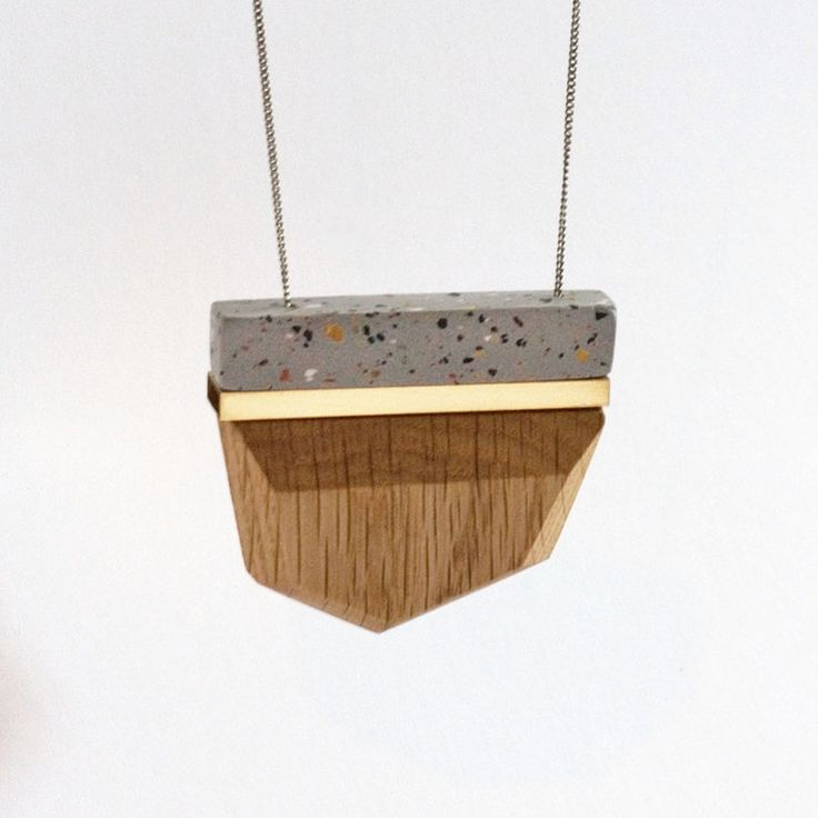 Large Clay Pendant in Grey by dor&kie jewellery objects for sale on http://hellopretty.co.za