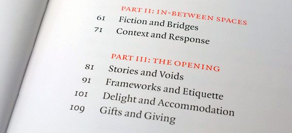 'The Shape of Design' by Frank Chimero. Sophisticated table of contents.