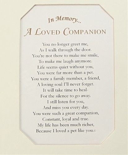 pet poems and quotes | Loved One: Pet Loss Frame: Personalized Keepsake Gifts - A loving ...