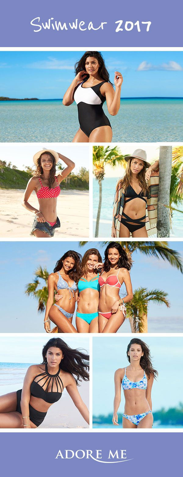 Life is all about compromise, but not when it comes to the perfect swimwear. Adore Me swimwear is designed to channel your inner glow. Choose from high neck cuts, traditional bikinis, reversible patterns, crochet details and high-waist bottoms. With the 2017 swimwear collection, YOU create your perfect swimwear match. Glow, on...treat yourself to new swimsuits. Sign Up today!