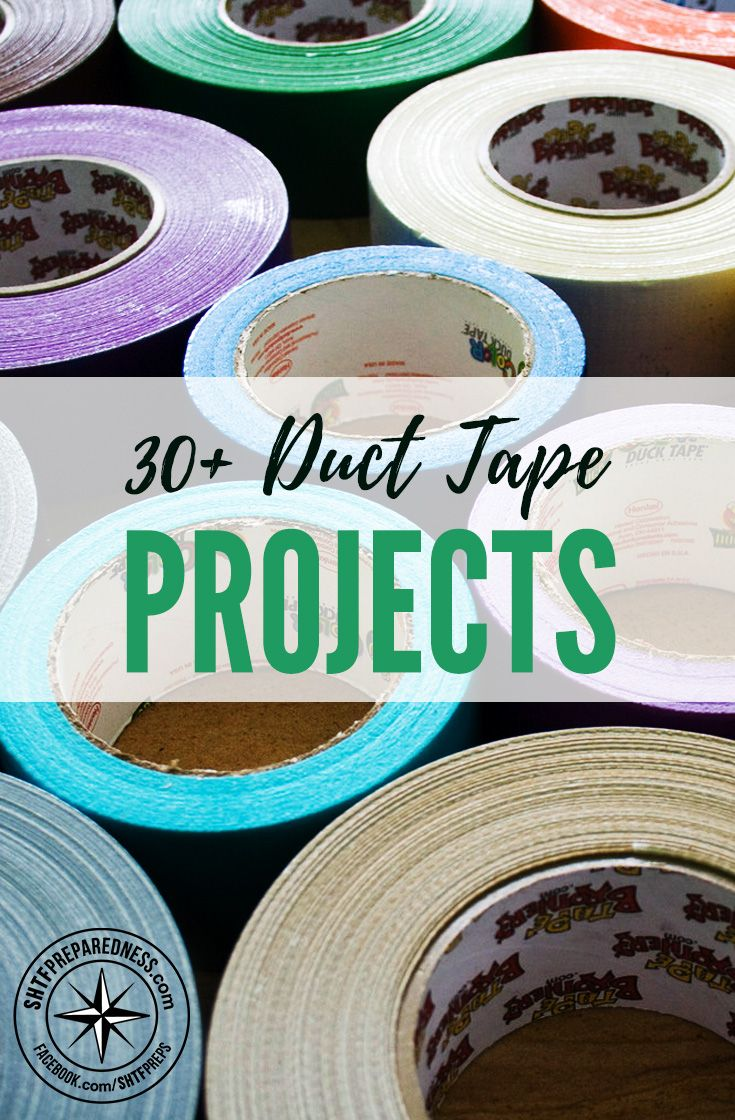 30+ Duct Tape Projects - Duct tape is the first aid kit of the gear world! See how it can change your life in so many ways today! I found a collection of over 30 projects that you can make out of duct tape.