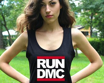 Run Dmc Shirts Hip hop Tank Top Run Dmc Black Women Shirt Rap Shirt Run Dmc T Shirt Lady Fit Valueweight Vest Crop Top T Shirt
