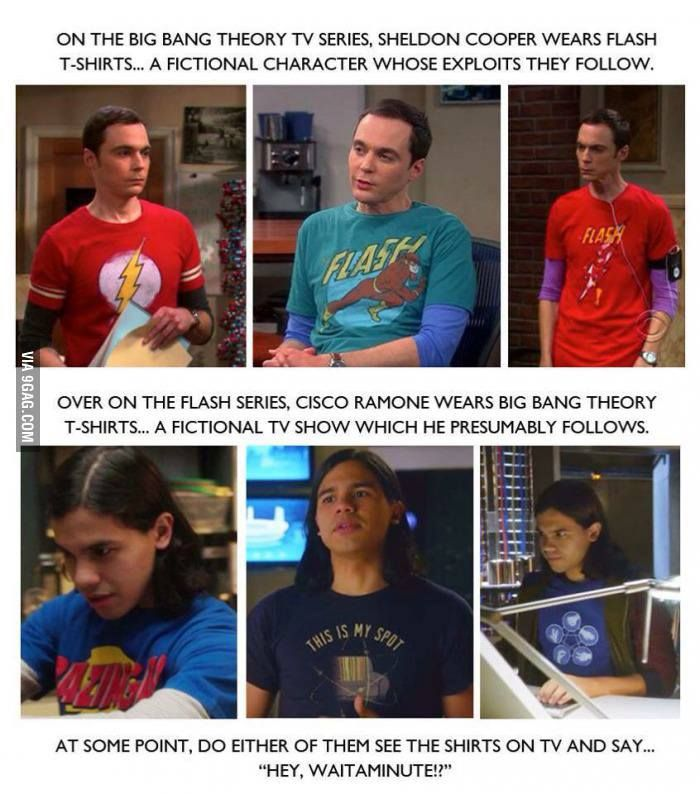 T-shirt power! #BigBangTheory #theflash / http://saltlakecomiccon.com/slcc-2015-tickets/?cc=Pinterest