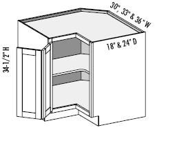 Corner Cabinet Lazy Susan Dimensions Woodworking