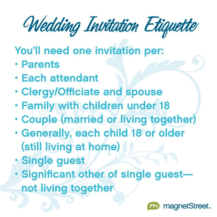 Wedding Invitation Etiquette Tips