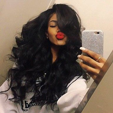 Stylish Middle Part Body Wave Hair High Temperature Wig Jet black Color Black Women Natural Daily Wearing 5241521 2017 – $11.89