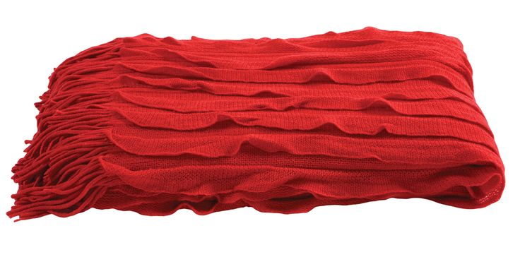 The luxurious Ripple throw is available in a choice of jewel-like tones of red, fawn, peacock, chartreuse, orange, biscuit and charcoal. Price $69.
