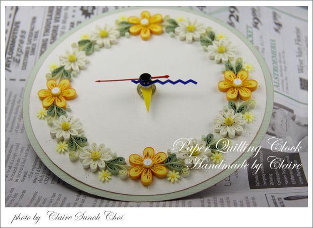 내가 만든 페이퍼 퀼링 시계 : 네이버 블로그