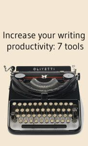 Increase your #writing #productivity today: http://www.nownovel.com/blog/writing-productivity-7-tools/