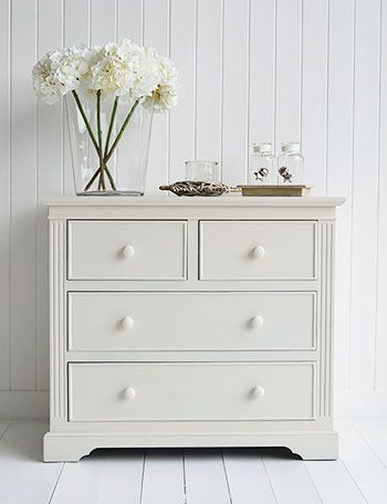Rockport ivory chest of drawers. Painted furniture from The White Lighthouse. Free UK delivery