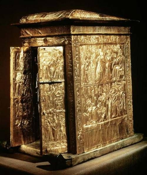 The Golden Shrine of Tutankhamun This small…