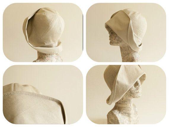 Женские летние шляпы/ клош на солнце бежевый песок от TUTUHandmadeHats