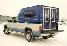 Custom built truck camper