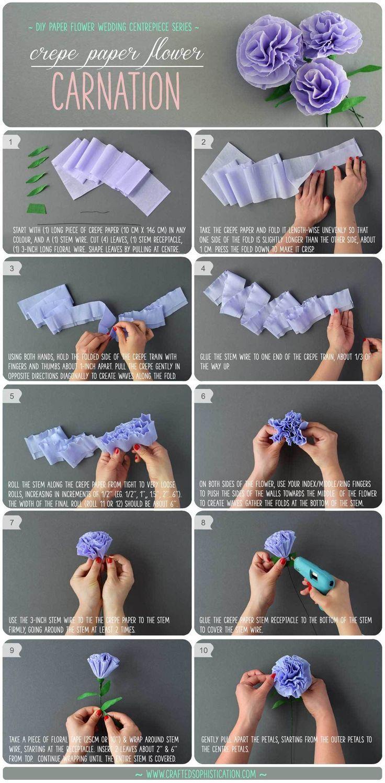 DIY Krepppapier Blumennelke