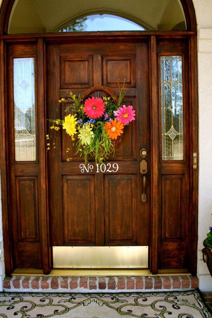 front door floral idea