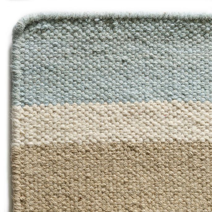 Tybee Island Wool Berber Striped Rug Maine Cottage