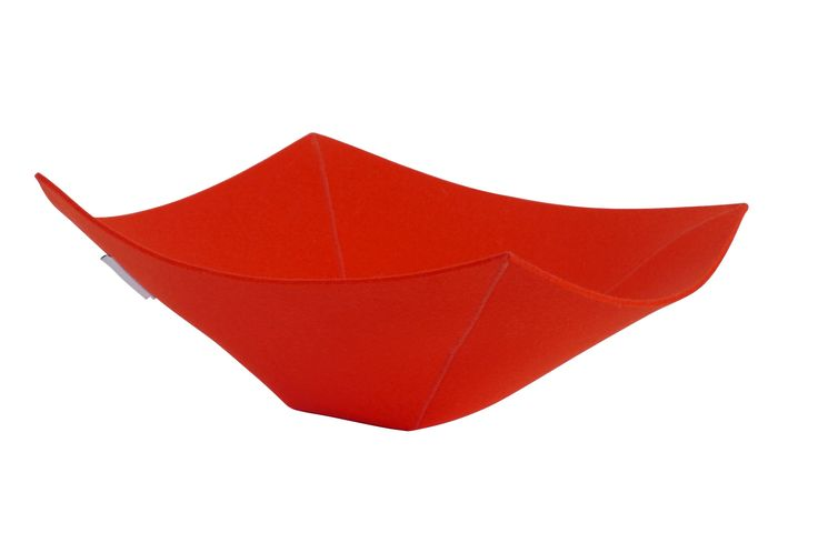Felt bowl North by Rowold in red