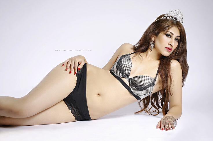 Miss Pakistan Aatka Feroz sizzles in black bikini