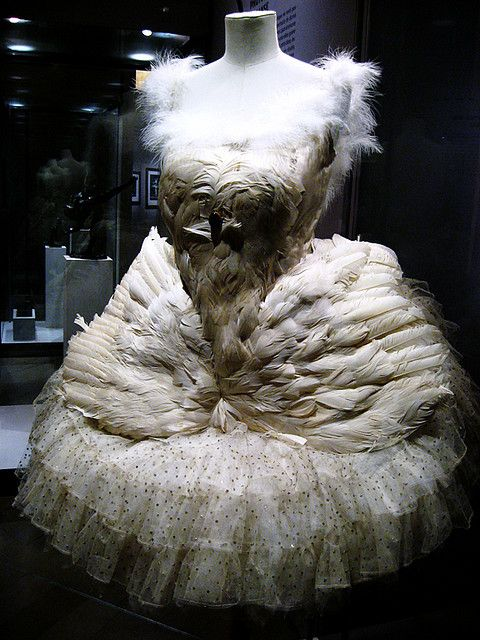 tutu from Anna Pavlova's performance of the Dying Swan in 1905.