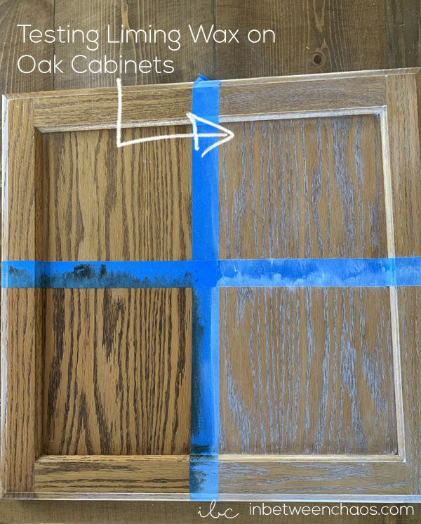Testing Liming Wax on Oak Cabinets | inbetweenchaos.com ...
