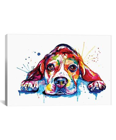 Another great find on #zulily! Beagle Watercolor Wrapped Canvas #zulilyfinds