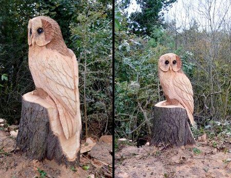 Beautiful tree carvings made by talented British sculptor Tommy Craggs.