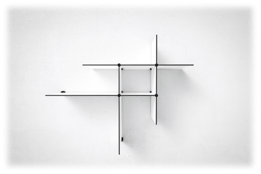 Two sets of Up The Wall shelves // available in black and white. #shelves #shelving #reol #hylder