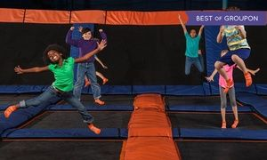 Groupon - Jump Sessions, SkyRobics, or Party for 10 at Sky Zone Indoor Trampoline Park (Up to 46% Off). Four Options.  in Pineville. Groupon deal price: $55