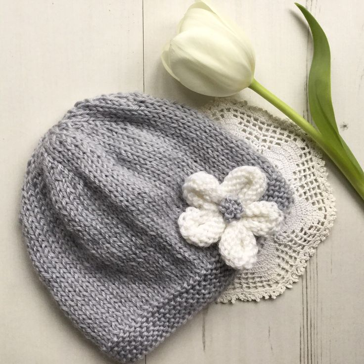 Funky Knit Flower Pattern For Baby Hat Image - Easy Scarf Knitting ...