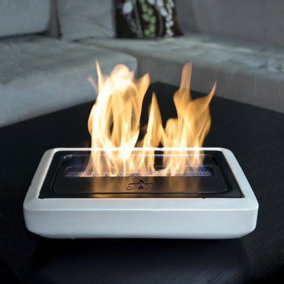Modern Portable Fireplaces And Fire Lamps! Whoa!