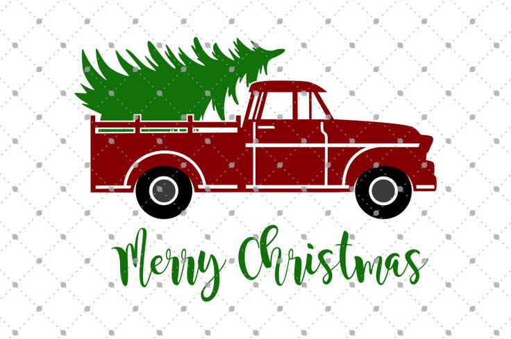 Christmas Tree Delivery Truck SVG Files by SVG Cut Studio ...