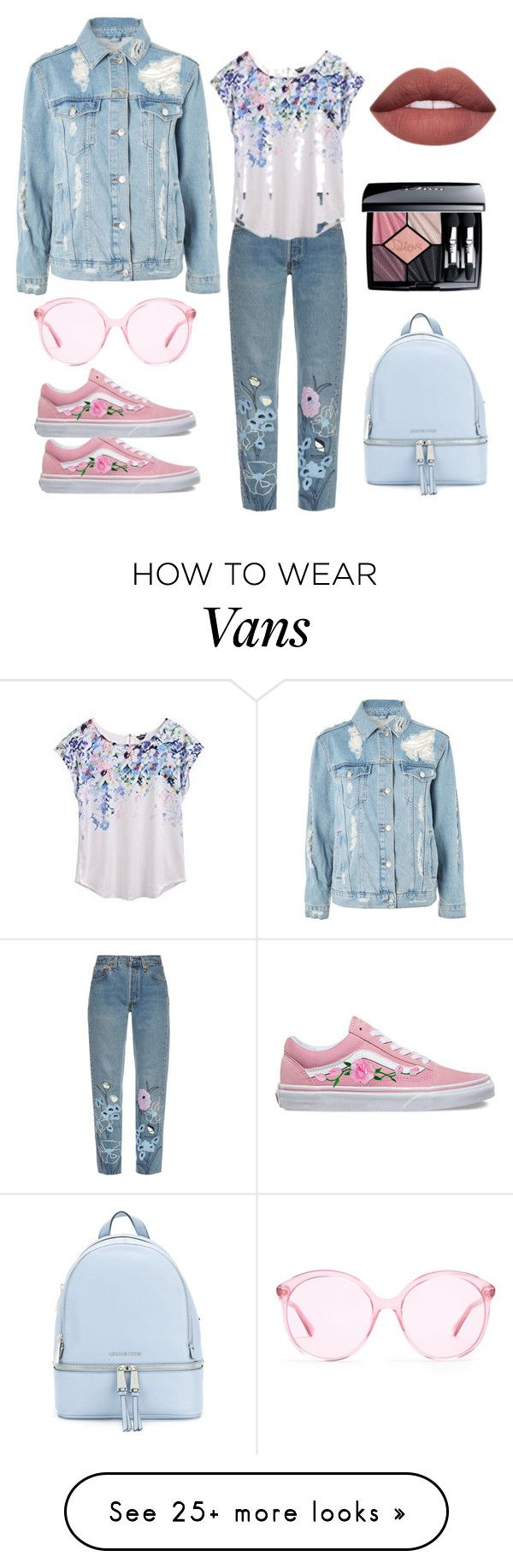 """Untitled #2665"" by twil24 on Polyvore featuring Bliss and Mischief, Topshop, Vans, MICHAEL Michael Kors, Gucci and Christian Dior"